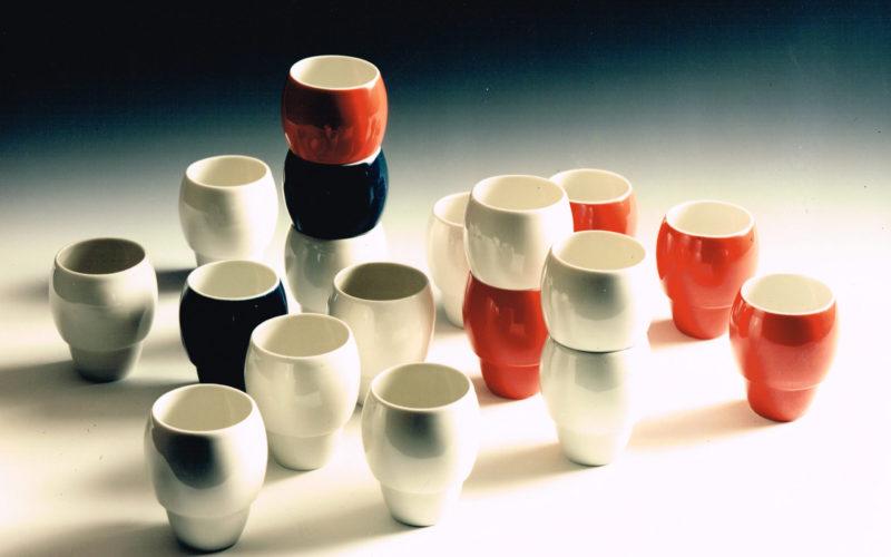gobelets empilables en porcelaine