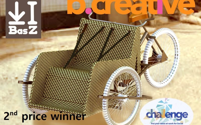 2nd price winner carriage bike for handicapped young people