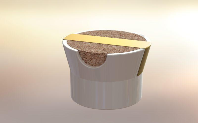 pot porcelaine et bouchon, packaging design (c) Bas van Zuijlen