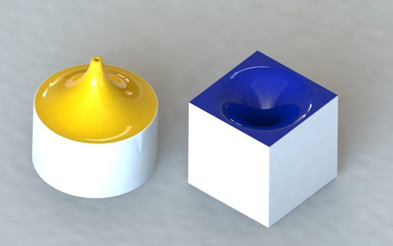 sel et poivre en porcelaine (c) Bas van Zuijlen