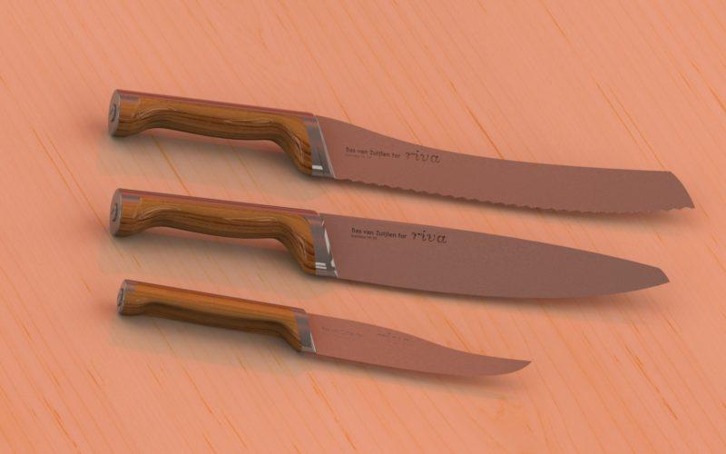 exemple de design: couteaux de cuisine en acier inox 18/10 (c) Bas van Zuijlen