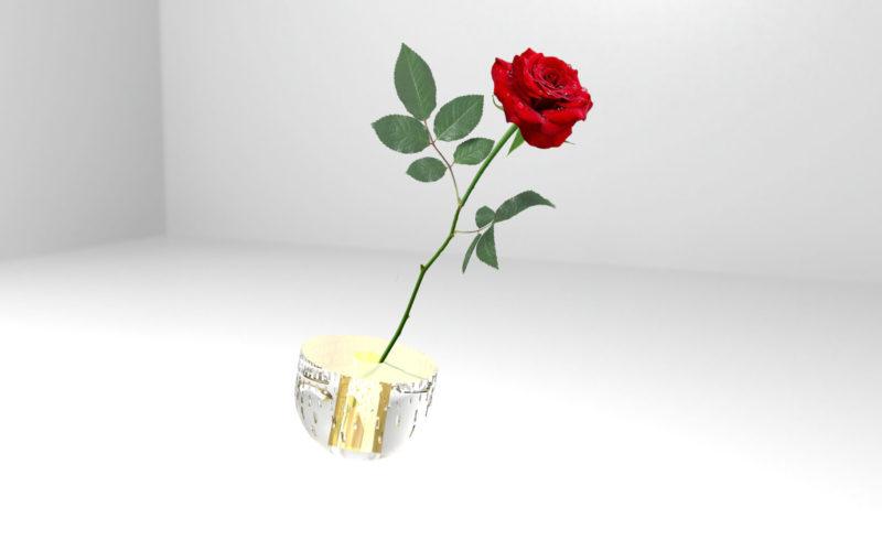 exemple de design : petit vase en cristal ciselé (c) Bas van Zuijlen